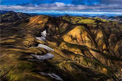 航拍冰岛秀丽山川 令人叹为观止
