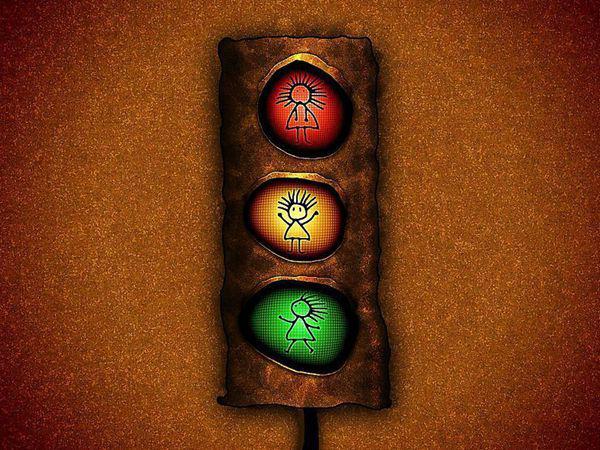 圆形红绿灯怎么看?