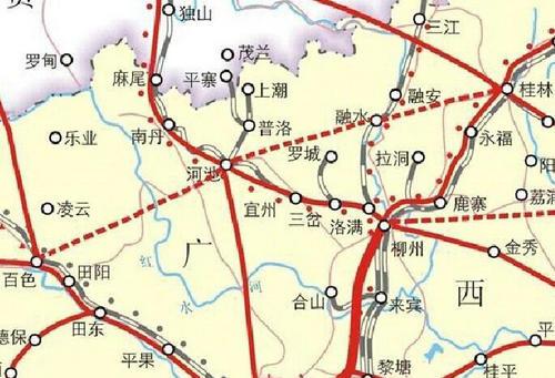 迈入高铁时代 广西铁路建设规划全景一览图片