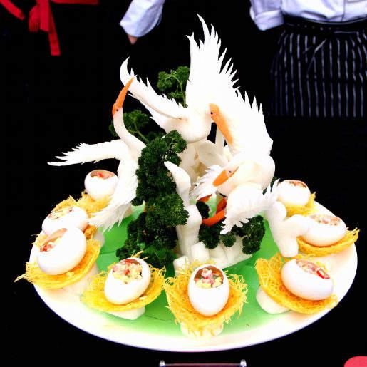 火锅海鲜冰盘造型