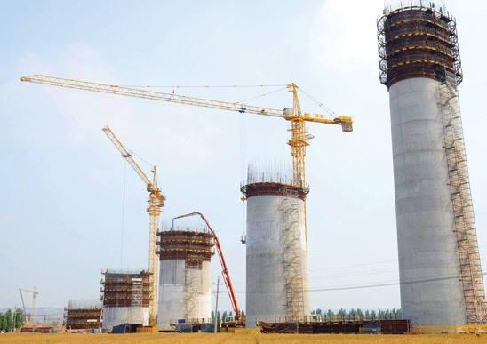 蒙华铁路汾河特大桥建设顺利图片