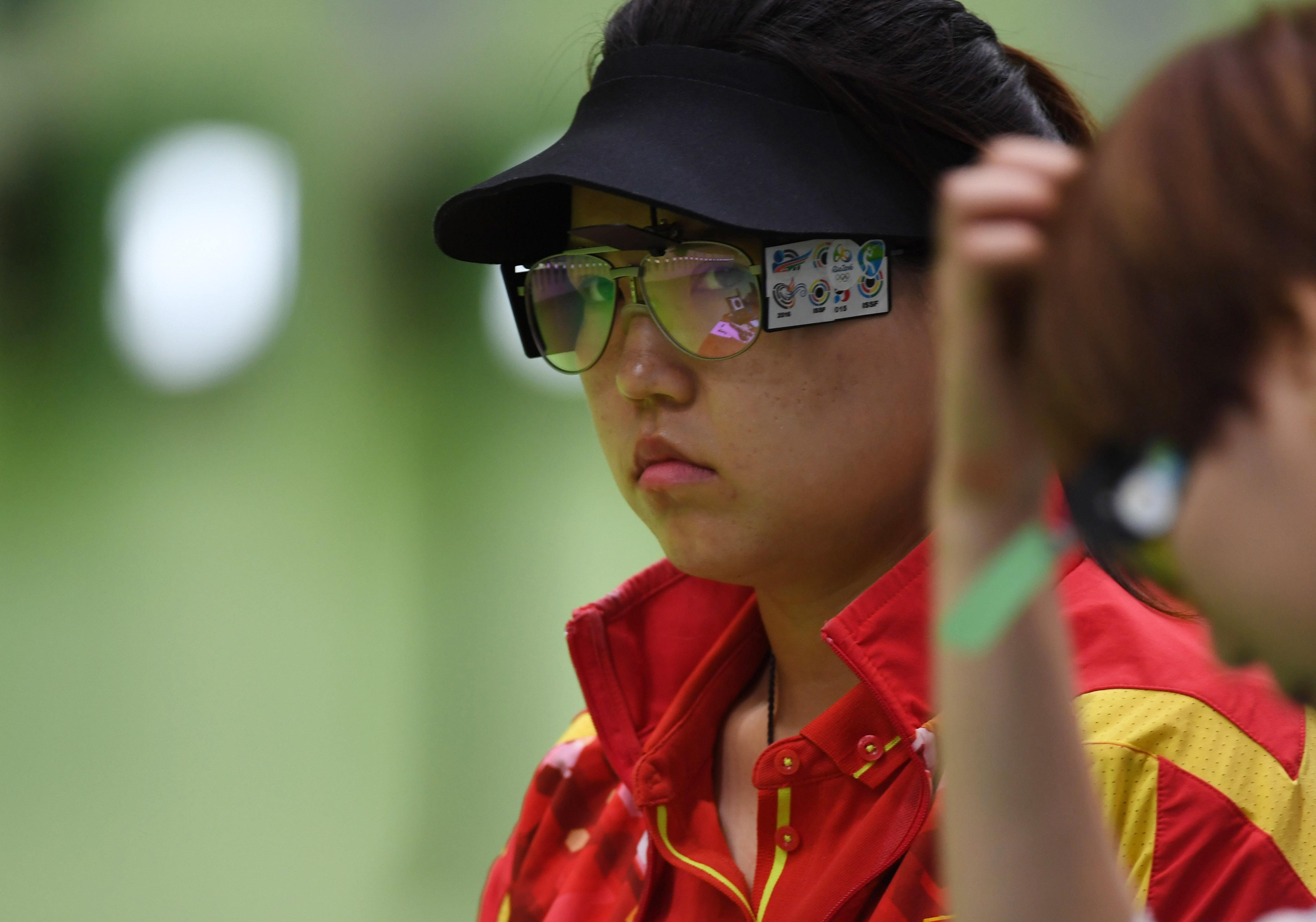 张梦雪在2016年里约奥运会射击女子10米气手枪决赛中。新华社记者韩瑜庆摄