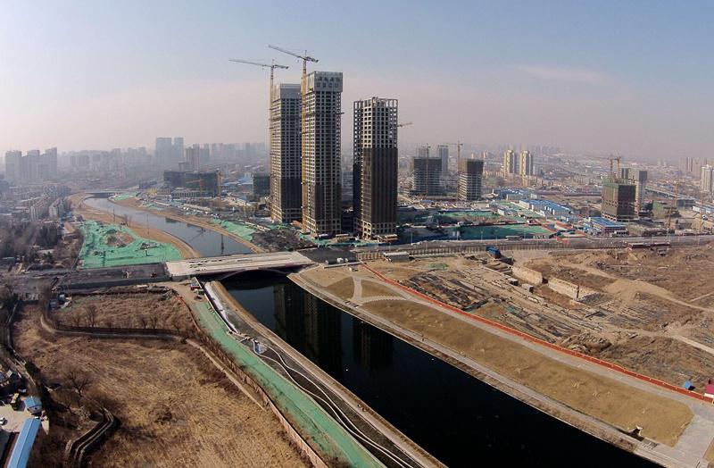 2月24日,这是北京城市副中心建设情况的航拍照片。 新华社记者 张晨霖 摄