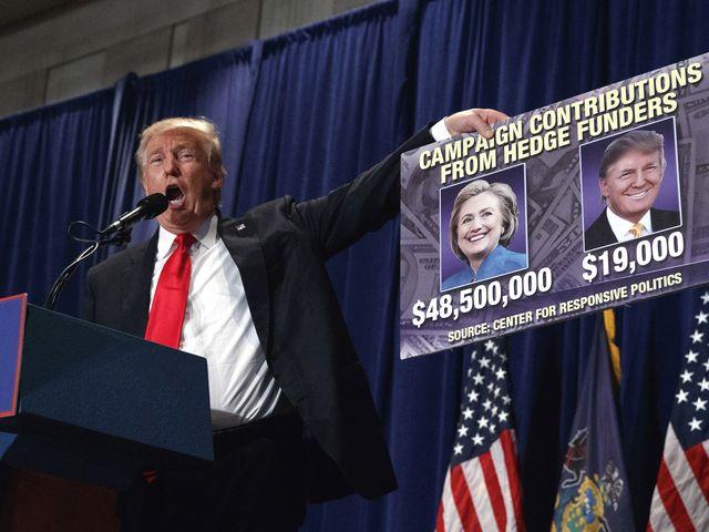 特朗普在宾夕法尼亚州进行的竞选活动上