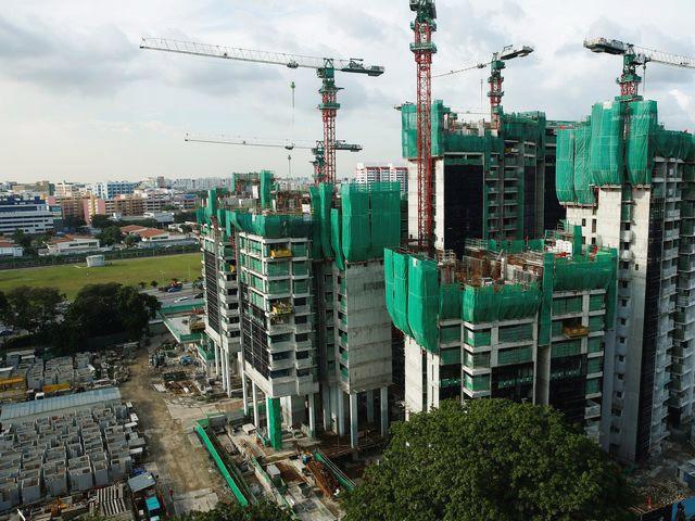 新加坡一处建筑工地,在该工地首先发现了本土传播的寨卡病例。(图片来源:新华/路透)