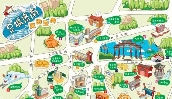 中国手绘美食地图