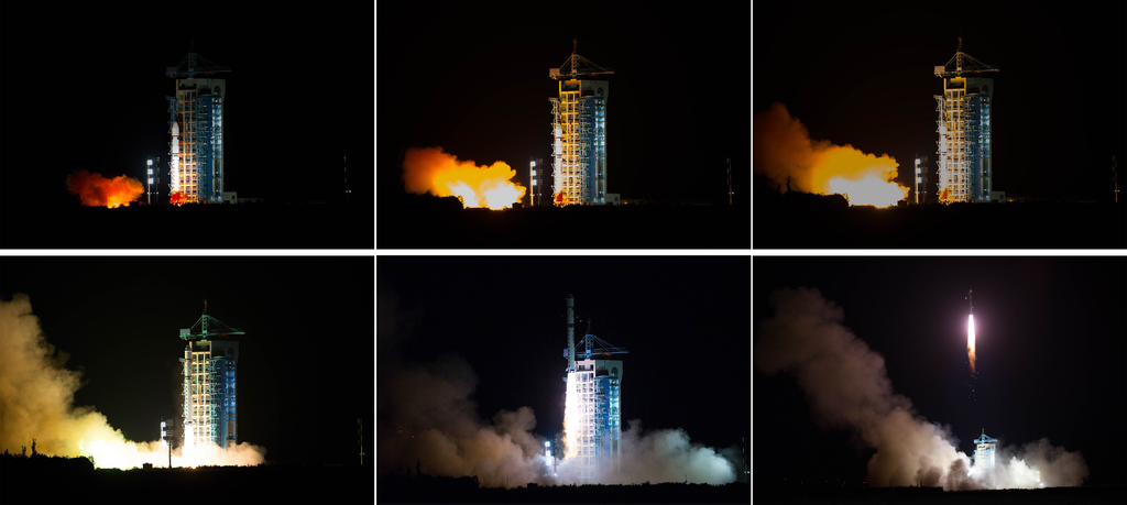 中国成功发射世界首颗量子卫星。新华社记者金立旺摄