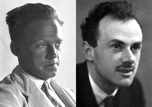 海森堡(左)和迪拉克。(图片来源:诺贝尔奖网站)