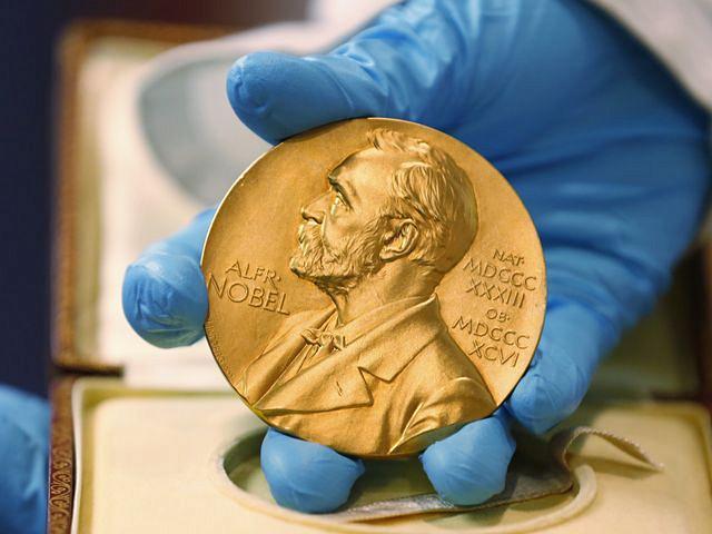 诺贝尔奖。(图片来源:新华/美联)