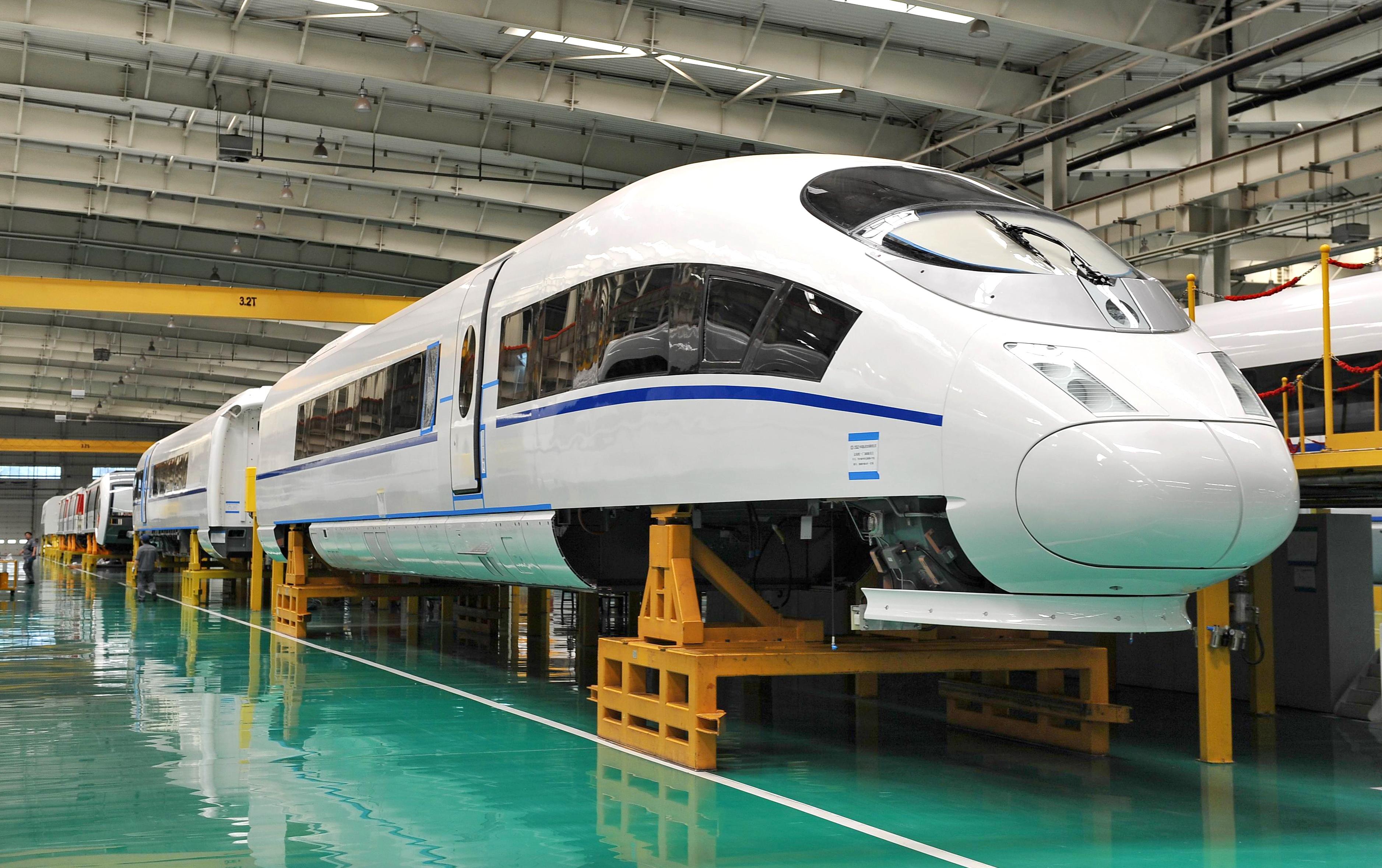 中国中车在唐山的生产线。新华社记者牟宇摄