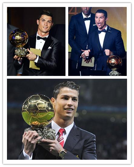 此前,C罗分别在2008、2013和2014年获得金球奖。
