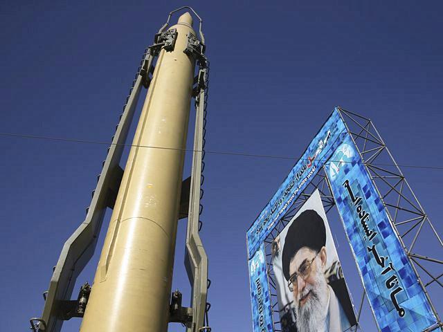 """伊朗""""力量-F""""导弹。(新华/美联)"""