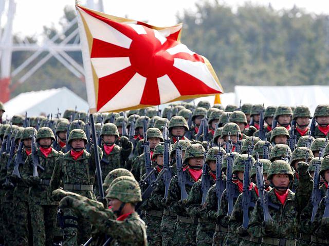 日本自卫队。(新华/路透)