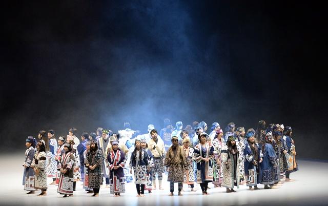 第八届亚洲冬季运动会开幕式。新华社记者马平摄