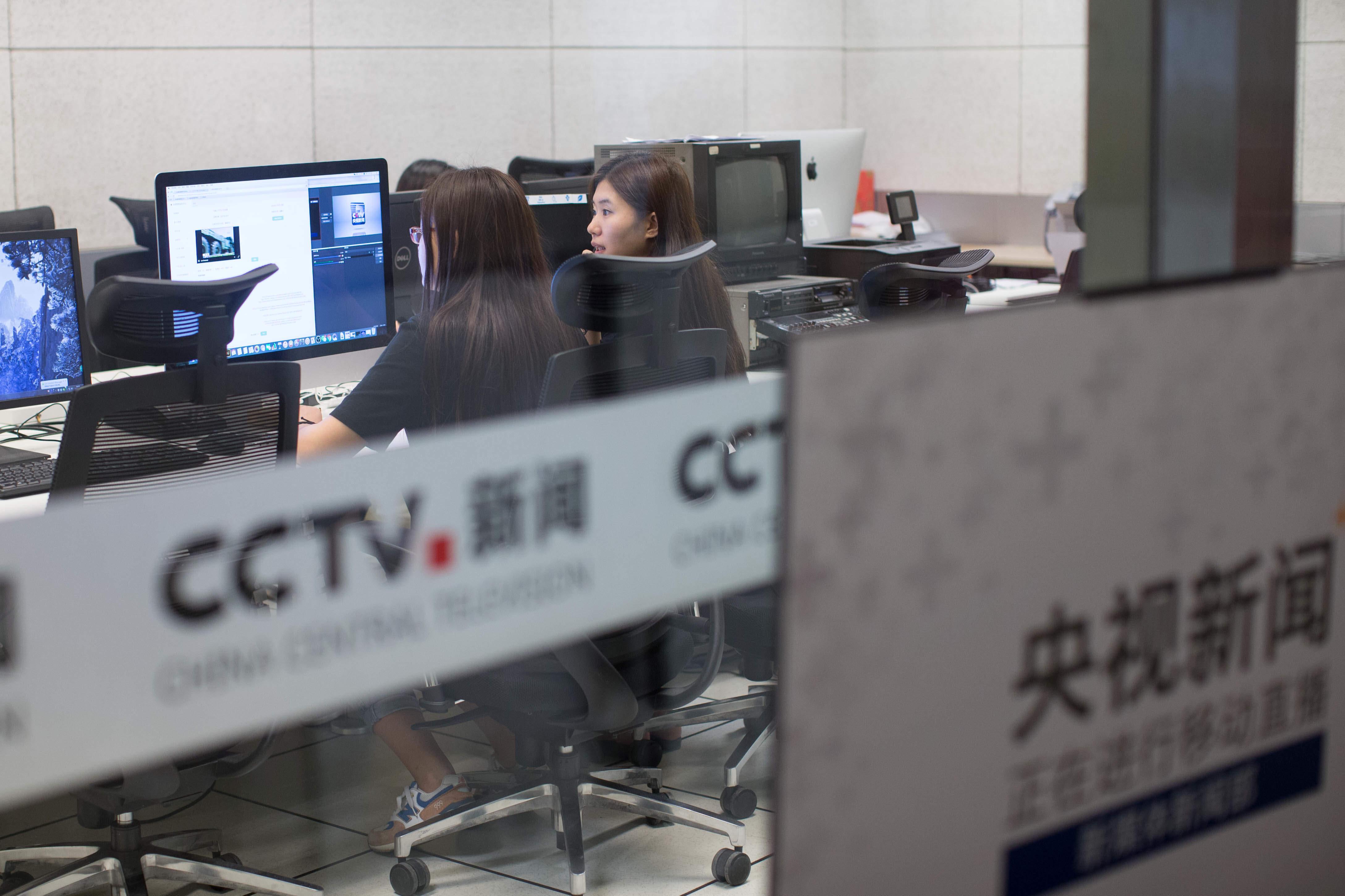 这是中央电视台新闻新媒体移动直播机房(2016年8月30日摄)。 新华社记者 吴壮 摄