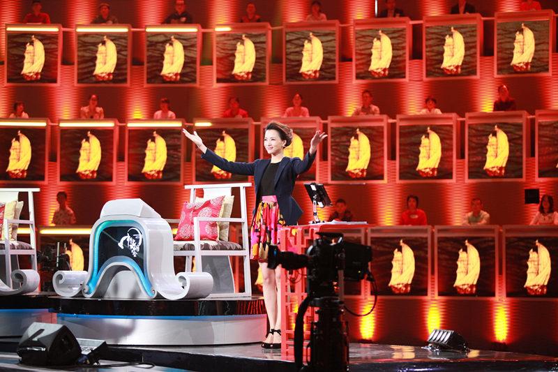 《中国诗词大会》节目录制现场(资料照片)。新华社发