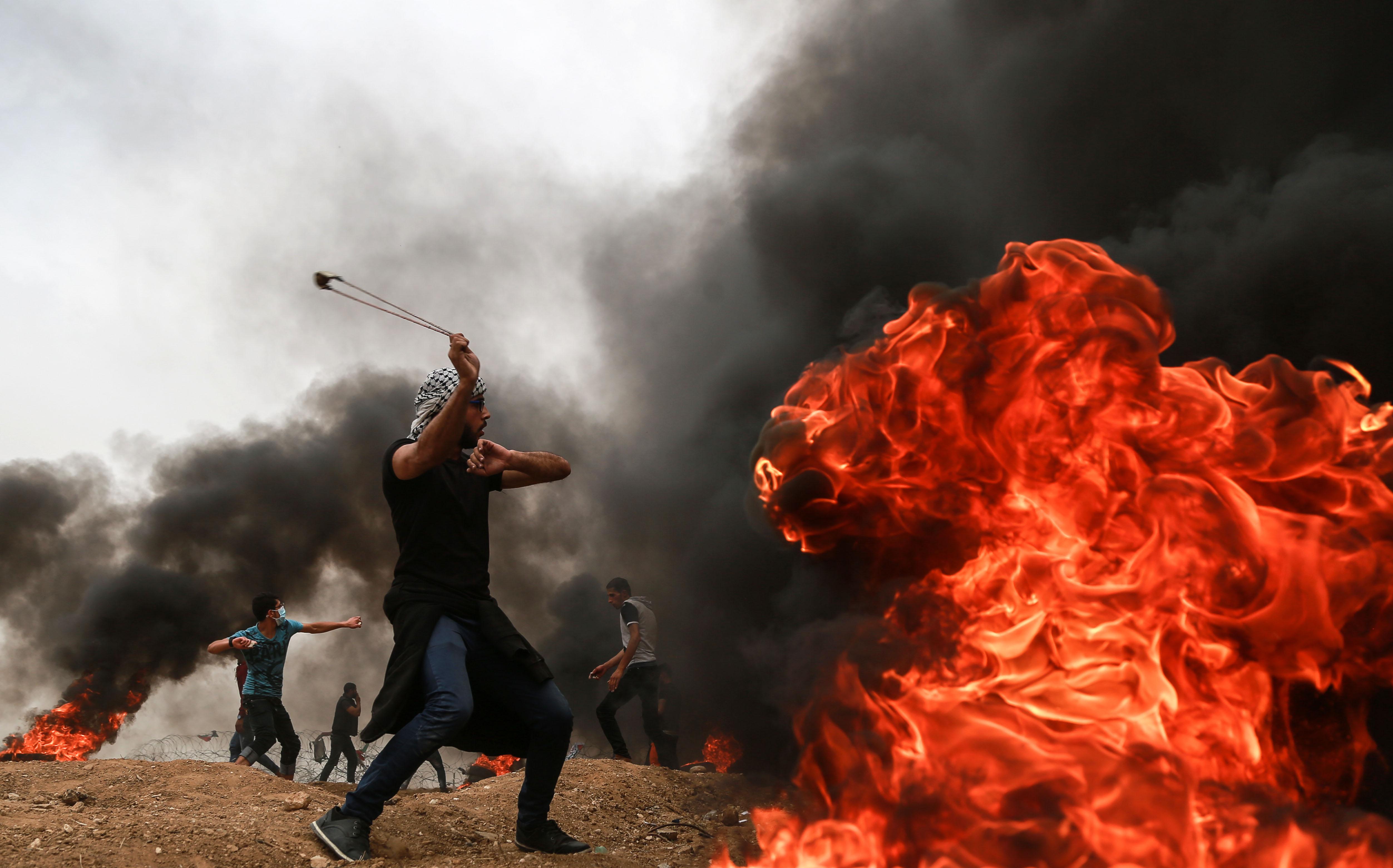 巴以冲突_巴以冲突致千余名巴勒斯坦人受伤
