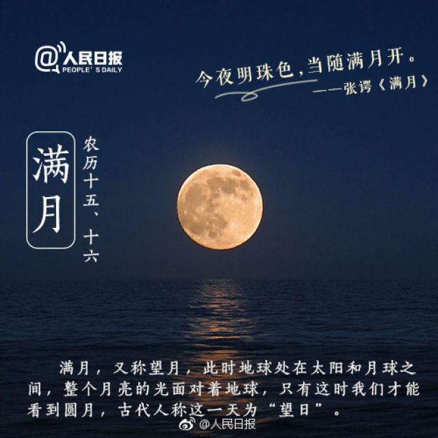 中秋小课堂:月圆月缺的这些称呼,你都知道吗?