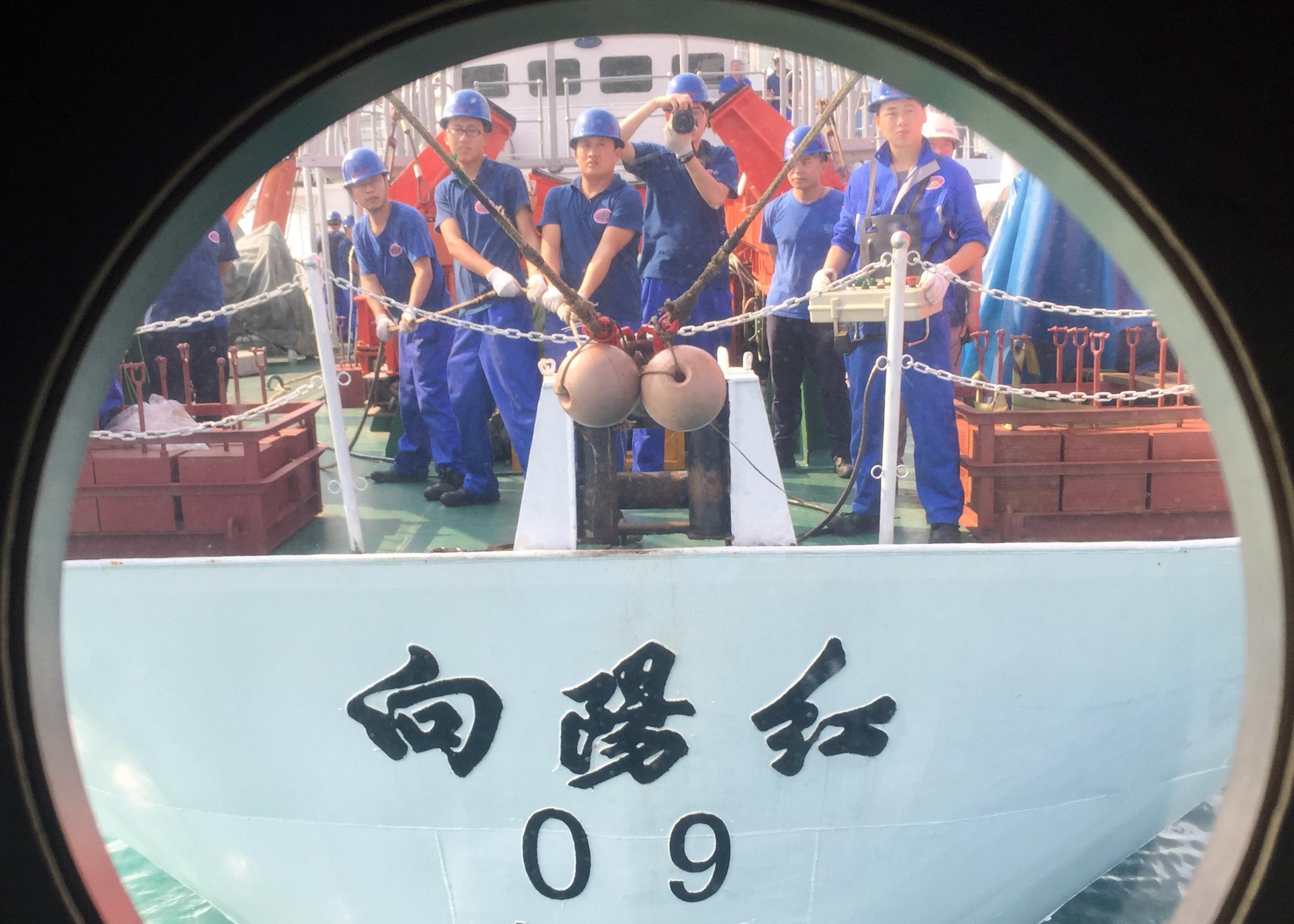"""""""蛟龙""""号三亚全流程演练 备战南海今年第一潜"""