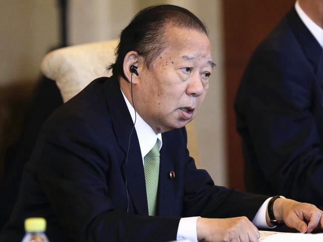 日本自民党干事长二阶俊博。(新华/美联)