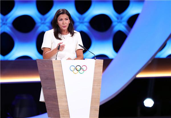 巴黎市市长伊达尔戈在国际奥委会会议上发言 新华社发
