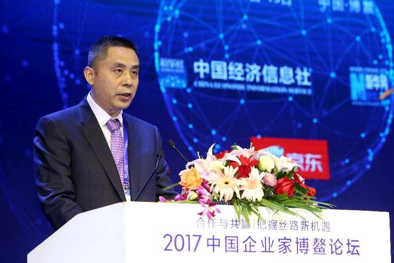 五糧液股份有限公司副總經理唐圣云發表開幕式主旨演講 新華社 王吉如攝