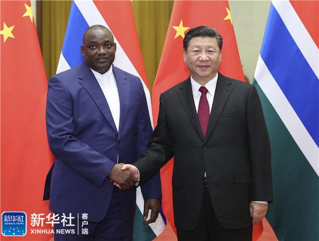 习近平同冈比亚总统巴罗举行会谈 新湖南www.hunanabc.com