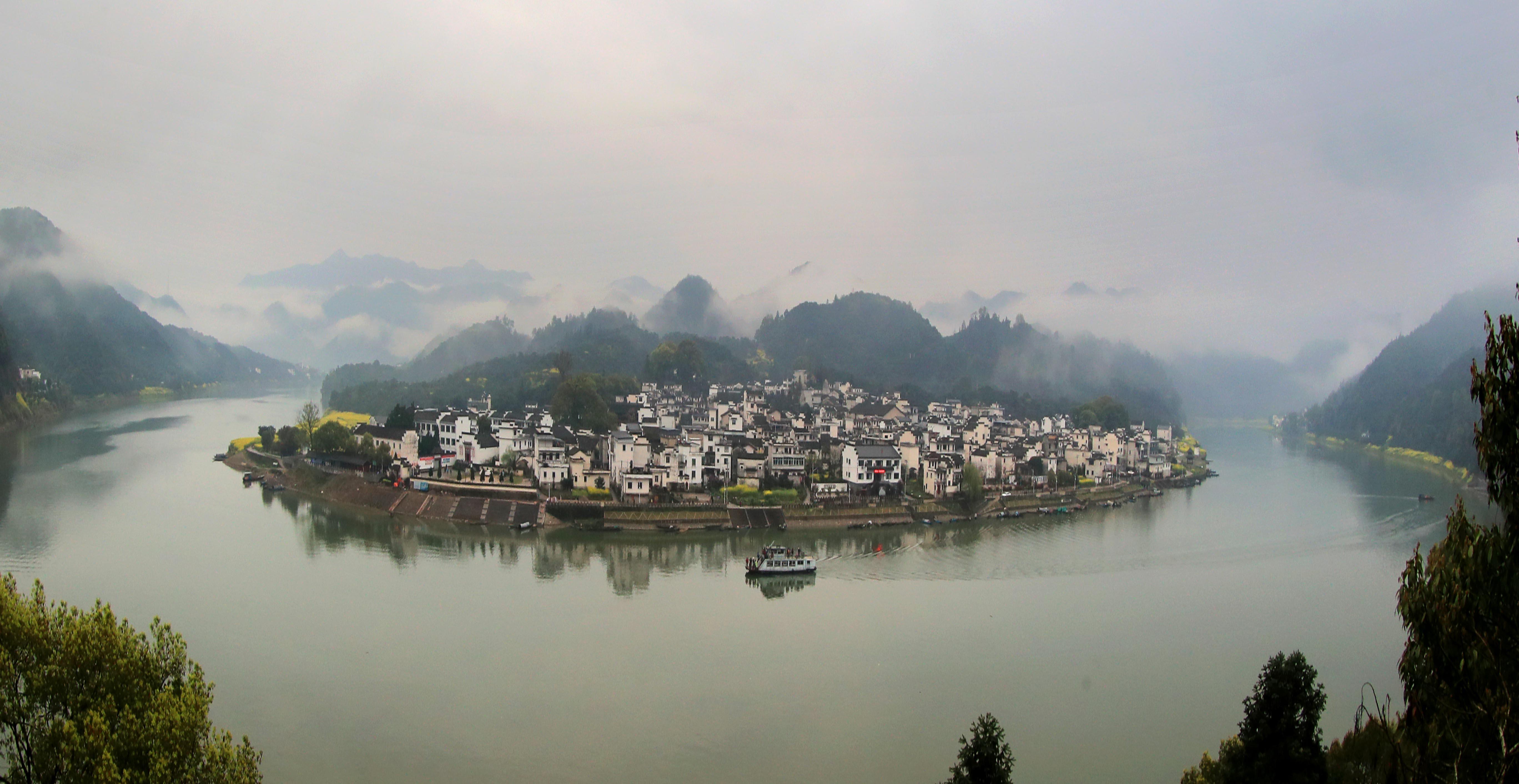xinhua china anhui laian pond cypress scenery scenery - HD5472×2825