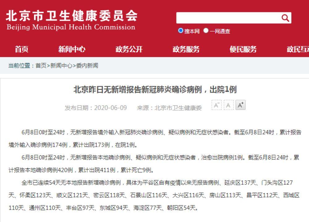 《【超越娱乐平台首页】北京已连续54天无本地新增确诊病例》