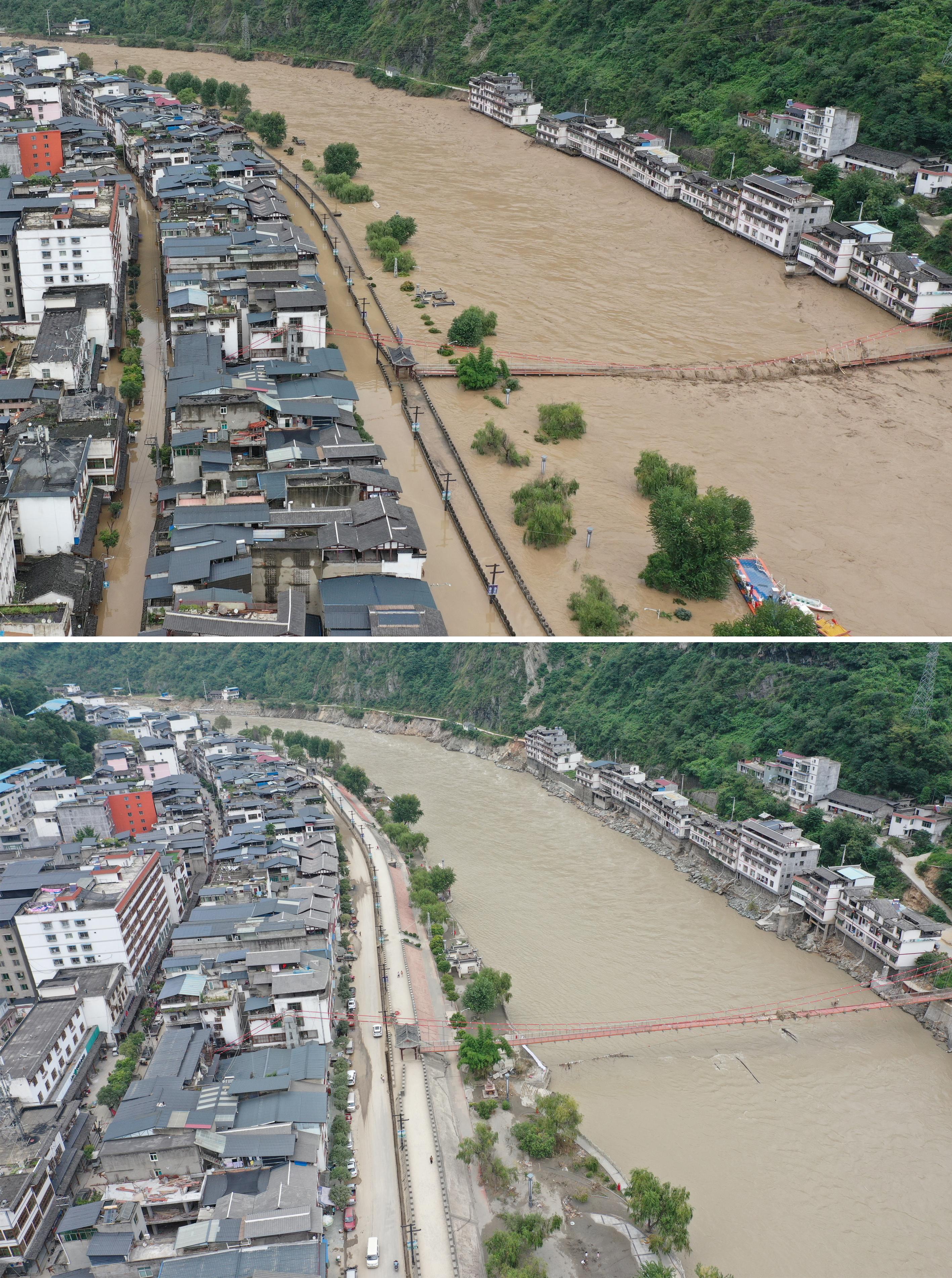 新华社|甘肃文县:洪水过后 生活重新开始